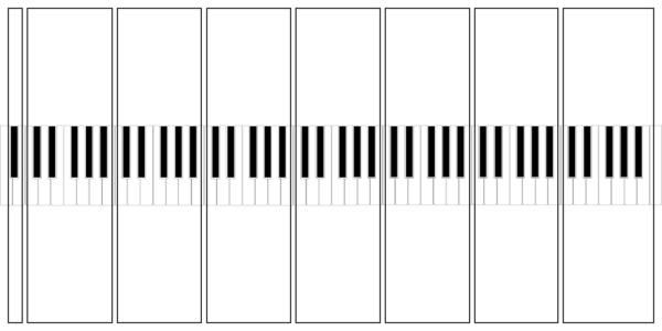 ピアノの鍵盤の分け方