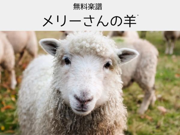 無料ピアノ楽譜 メリーさんの羊